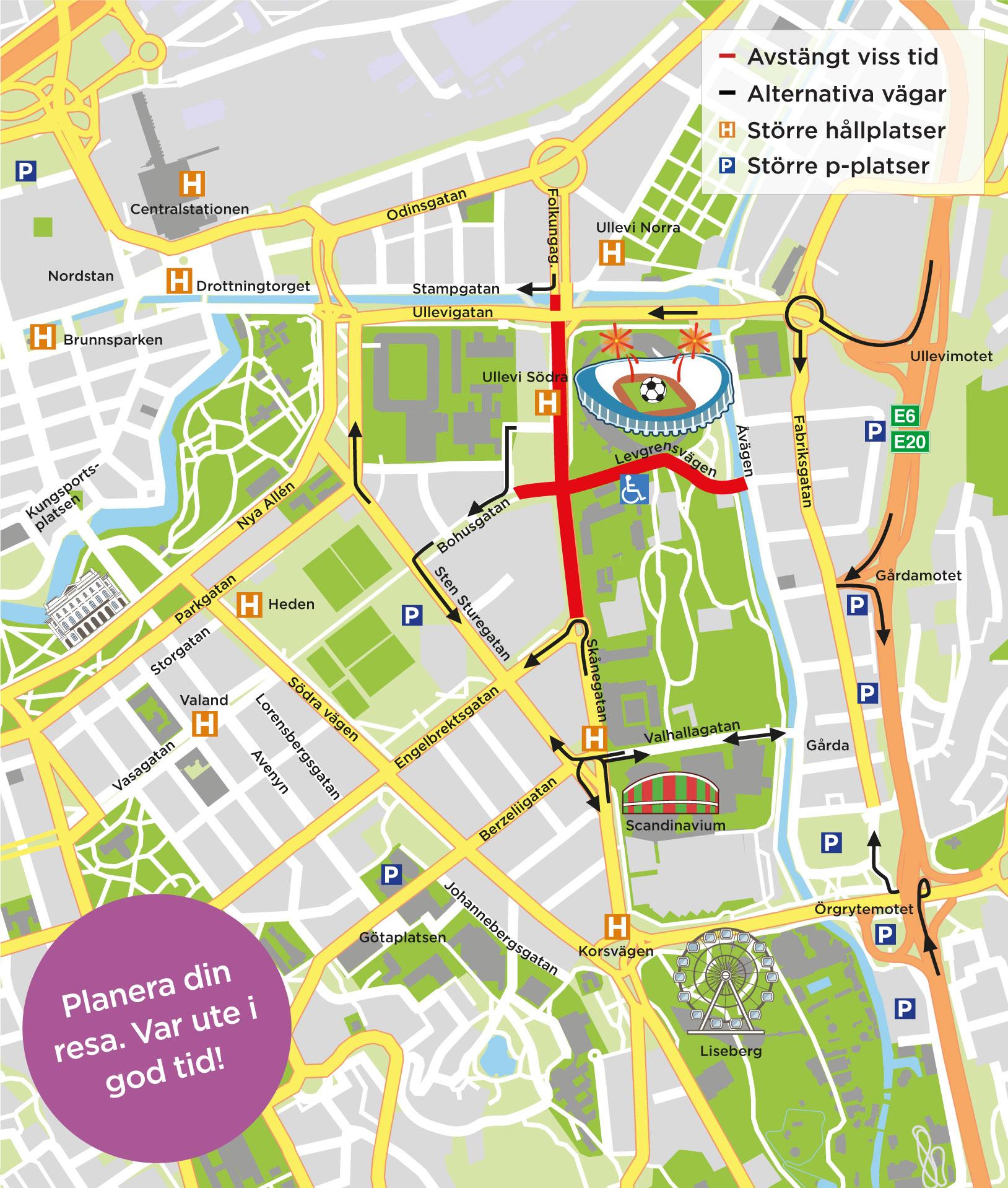 Heden Goteborg Karta.Gothia Cup Kickar Igang Trafiken Nu Goteborg