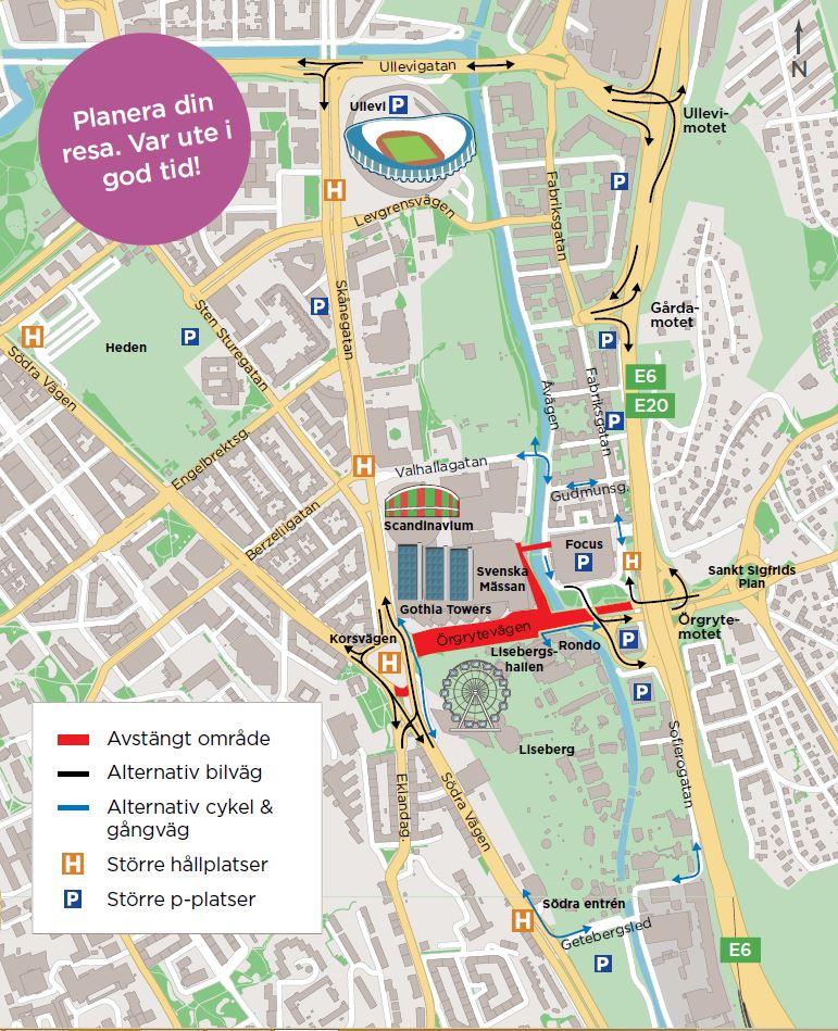 Karta E6 Goteborg.Delar Av Goteborg Avstangda Trafiken Nu Goteborg